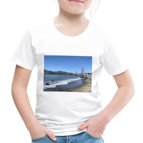 Marshalls Beach San Francisco Golden Gate Bridge - Kinder Premium T-Shirt