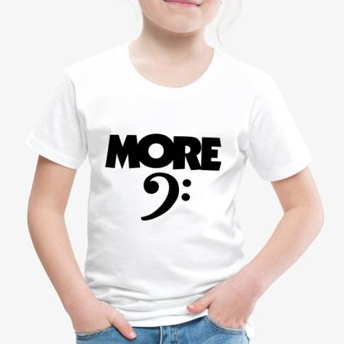 More Bass (Schlüssel) Schwarz - Kinder Premium T-Shirt