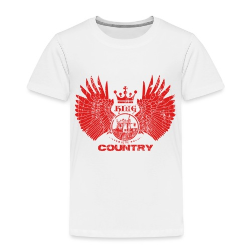 IH KING of the COUNTRY (Red design) - Kinderen Premium T-shirt