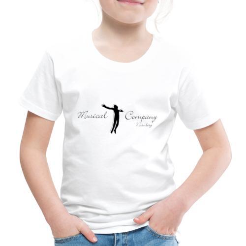 Musicalcompany Nürnberg e.V. Logo komplett schwarz - Kinder Premium T-Shirt