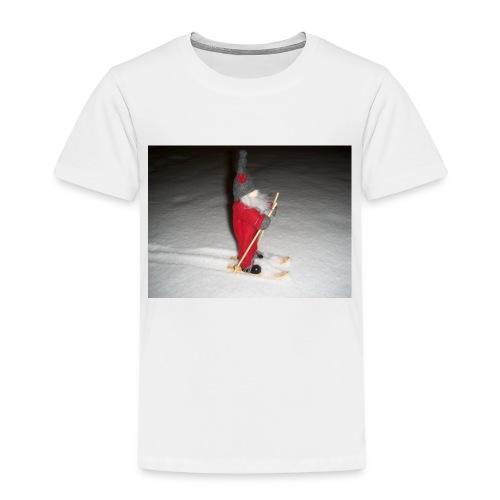 Joulutonttu hiihtämässä - Lasten premium t-paita