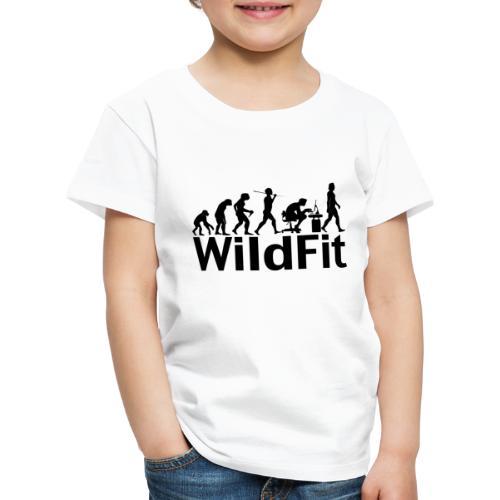 WildFit Logo Evolution in Schwarz - Kinder Premium T-Shirt