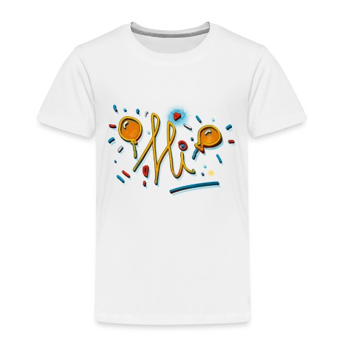 Hi Sunny Doodle fun design by FabSpark - Kids' Premium T-Shirt