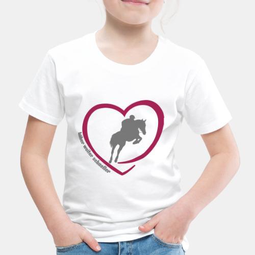 Springreiten höher weiter schneller - Kinder Premium T-Shirt