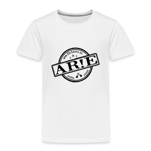 Backdrop AR E stempel zwart gif - Kinderen Premium T-shirt