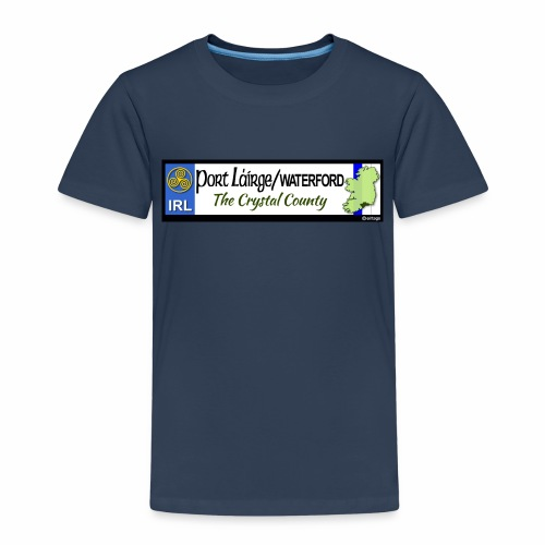 WATERFORD, IRELAND: licence plate tag style decal - Kids' Premium T-Shirt
