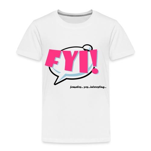 FYI.ai - Lasten premium t-paita