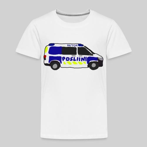 Posliini-Auto - Lasten premium t-paita