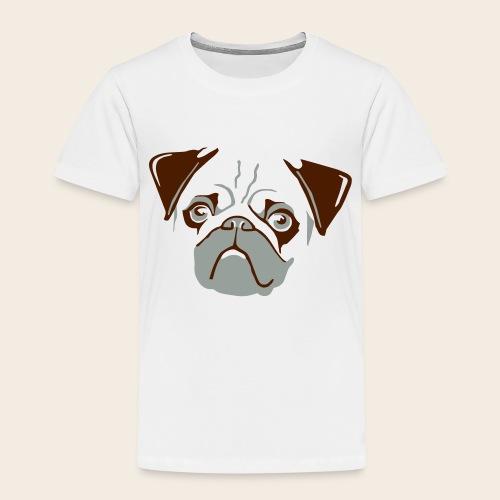 otiz mops kopf 2farbig - Kinder Premium T-Shirt