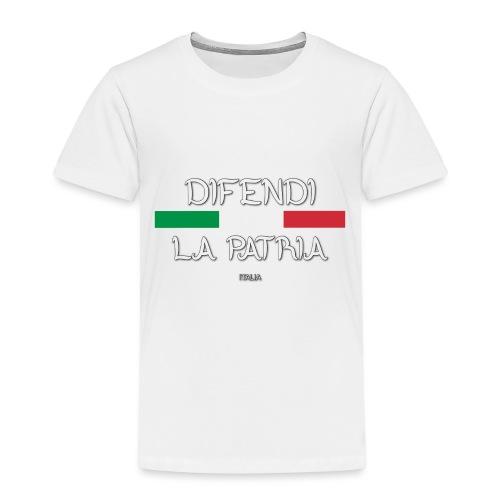 DIFENDI LA PATRIA - Maglietta Premium per bambini