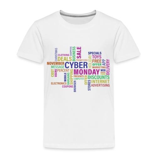 cyber monday text print - Børne premium T-shirt