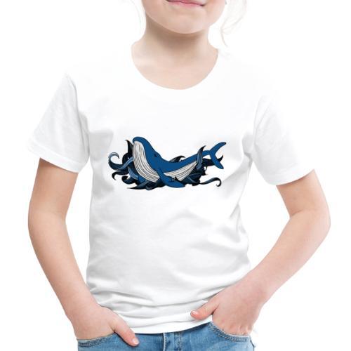 Doodle ink Whale - Maglietta Premium per bambini
