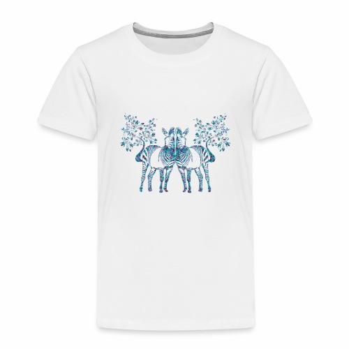 zebra hojas de palmeras - Camiseta premium niño