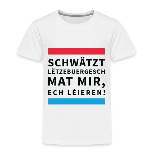 Schwätzt Lëtzebuergesch - Kids' Premium T-Shirt