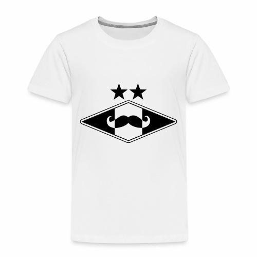 Mustache logo - Premium T-skjorte for barn