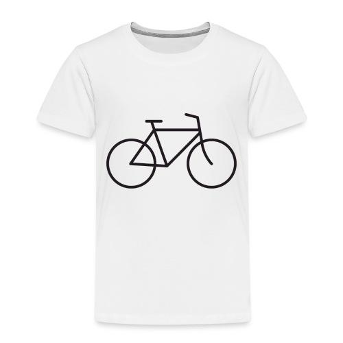 Bicycle black - Polkupyörä musta - Lasten premium t-paita