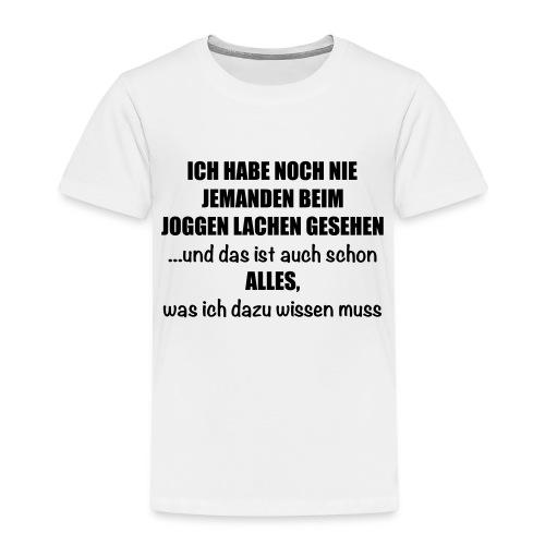 Anti-Joggen Spruch - Kinder Premium T-Shirt