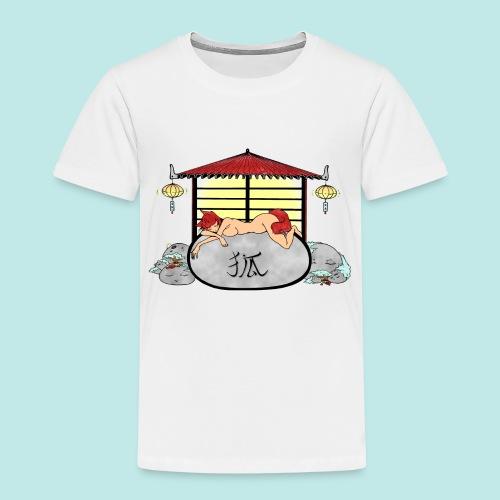 Déesse renard Inari jardin zen temple japonais - T-shirt Premium Enfant