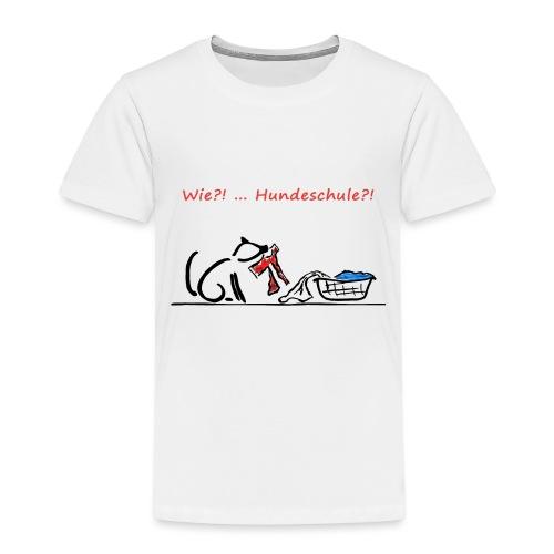 Wie? Hundeschule - Kinder Premium T-Shirt