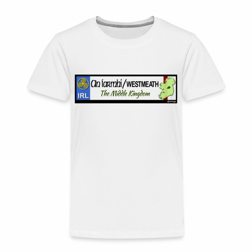 WESTMEATH, IRELAND: licence plate tag style decal - Kids' Premium T-Shirt