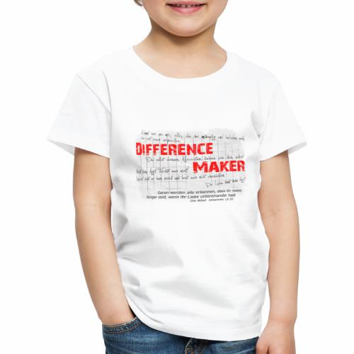 Difference Maker dunkel - Kinder Premium T-Shirt
