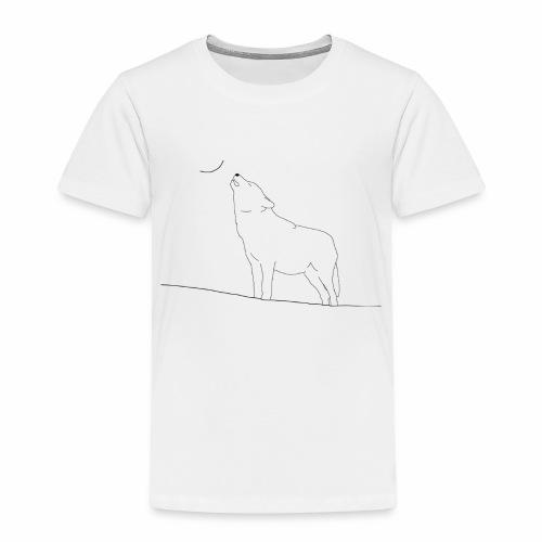 Gezeichneter Wolf - Kinder Premium T-Shirt