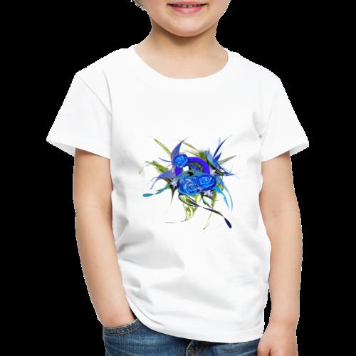 Blue flower - Blå blom - Premium-T-shirt barn