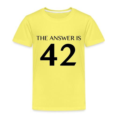 The Answer is 42 Black - Kids' Premium T-Shirt