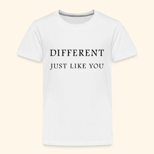 Different Just Like You (black font) - Kinderen Premium T-shirt