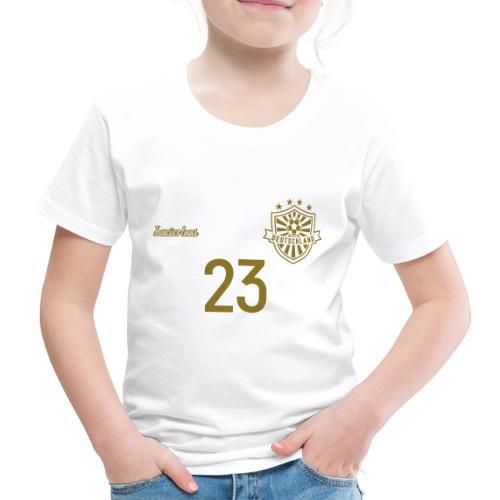 23 Deutschland Trikot GOLD und SILBER Pelibol - Kinder Premium T-Shirt