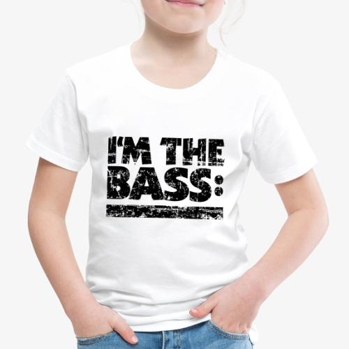I M THE BASS Vintage Black Line - Kinder Premium T-Shirt