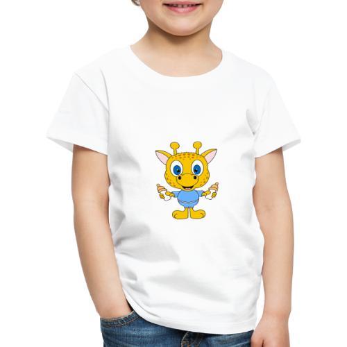 Lustige Giraffe - Baby - Geburt - Tier - Milch - Kinder Premium T-Shirt