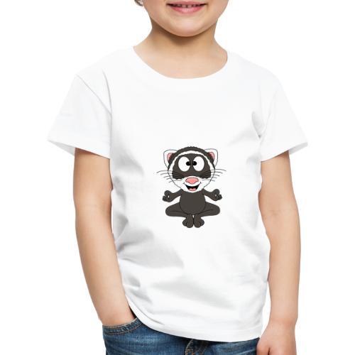 Lustiges Frettchen - Yoga - Relax - Chill - Fun - Kinder Premium T-Shirt