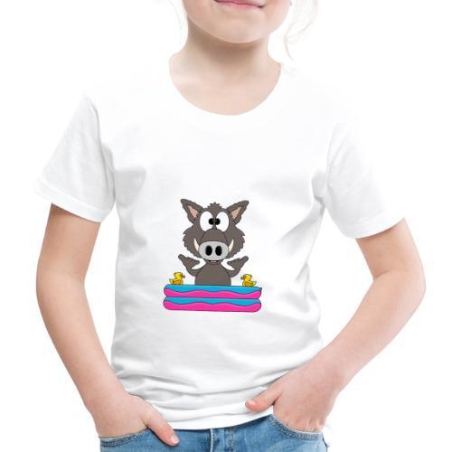 Lustiges Wildschwein - Planschbecken - Shaka - Fun - Kinder Premium T-Shirt