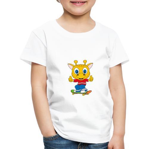 Lustige Giraffe - Skateboard - Sport - Fun - Kinder Premium T-Shirt