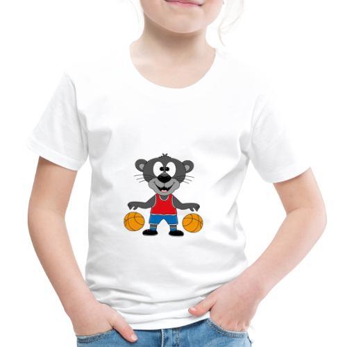 Lustiger Panther - Basketball - Sport - Tier - Fun - Kinder Premium T-Shirt