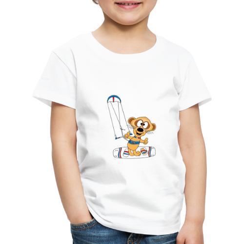 Lustiges Erdmännchen - Kite - Kitesurf - Kiter - Kinder Premium T-Shirt