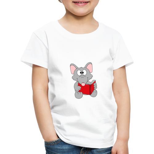 Lustige Leseratte - Ratte - Buch - Lesen - Fun - Kinder Premium T-Shirt