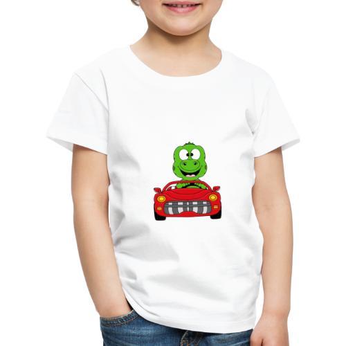 Lustiger Gecko - Echse - Auto - Cabrio - Car - Fun - Kinder Premium T-Shirt