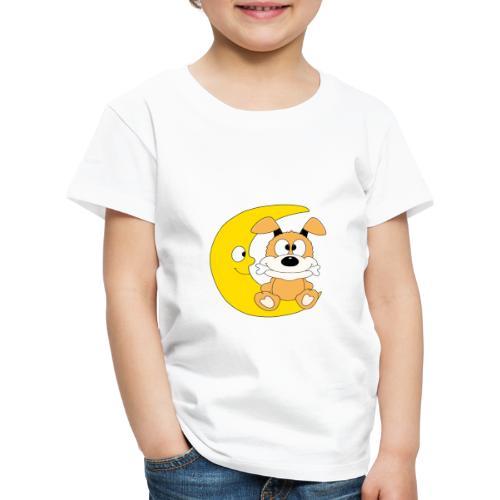Lustiger Hund - Dog - Knochen - Mond - Tier - Kinder Premium T-Shirt
