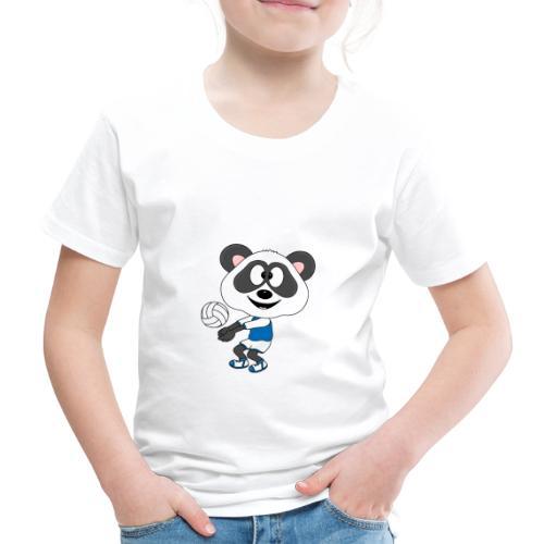 Lustiger Panda - Bär - Volleyball - Sport - Fun - Kinder Premium T-Shirt