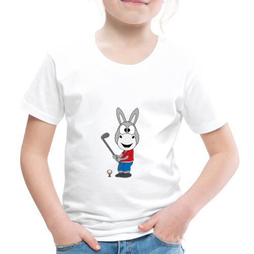 Lustiger Esel - Ass - Golf - Golfer - Sport - Kinder Premium T-Shirt