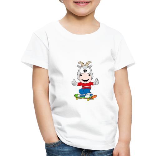 Lustige Ziege - Skateboard - Sport - Kind - Baby - Kinder Premium T-Shirt