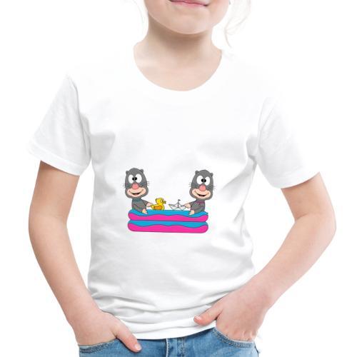 Lustige Maulwürfe - Planschbecken - Pool - Fun - Kinder Premium T-Shirt
