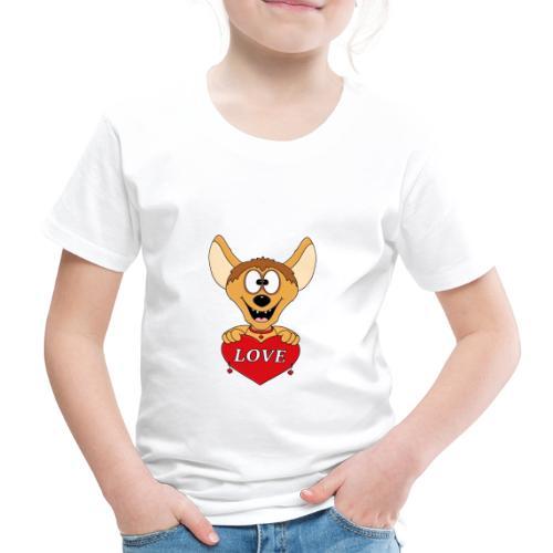 Lustige Hyäne - Herz - Liebe - Love - Tier - Fun - Kinder Premium T-Shirt
