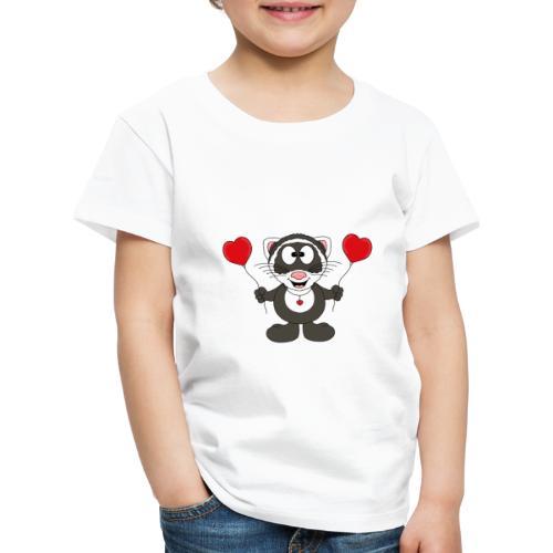 Lustiges Frettchen - Herzen - Luftballons - Tier - Kinder Premium T-Shirt