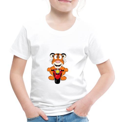 Lustiger Tiger - Motorrad - Biker - Tier - Fun - Kinder Premium T-Shirt