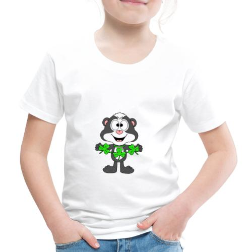 Lustiges Stinktier - Kleeblätter - Tier - Fun - Kinder Premium T-Shirt