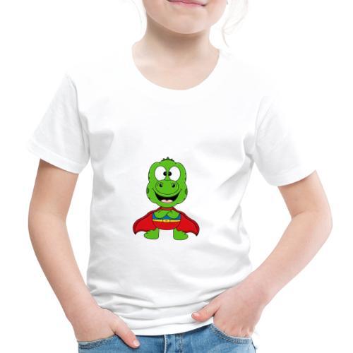 Lustige Echse - Gecko - Superheld - Kind - Baby - Kinder Premium T-Shirt