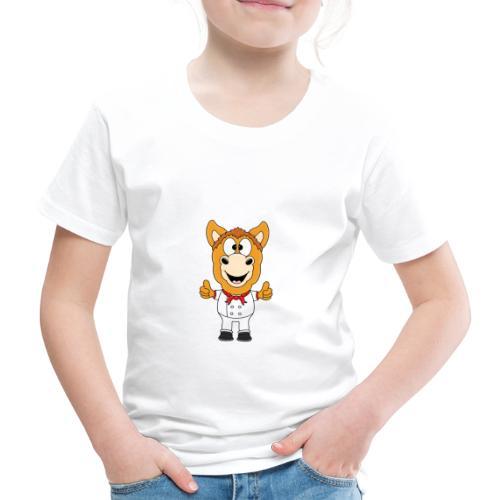 Lustiges Pferd - Pony - Bäcker - Koch - Fun - Kinder Premium T-Shirt